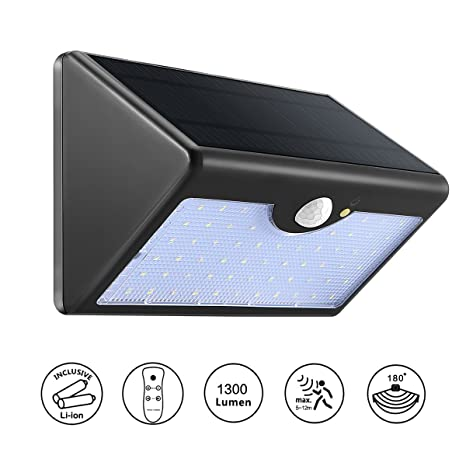 ourleeme mando a distancia sensor de movimiento solar 60 de pared (LED lámpara nocturna 5