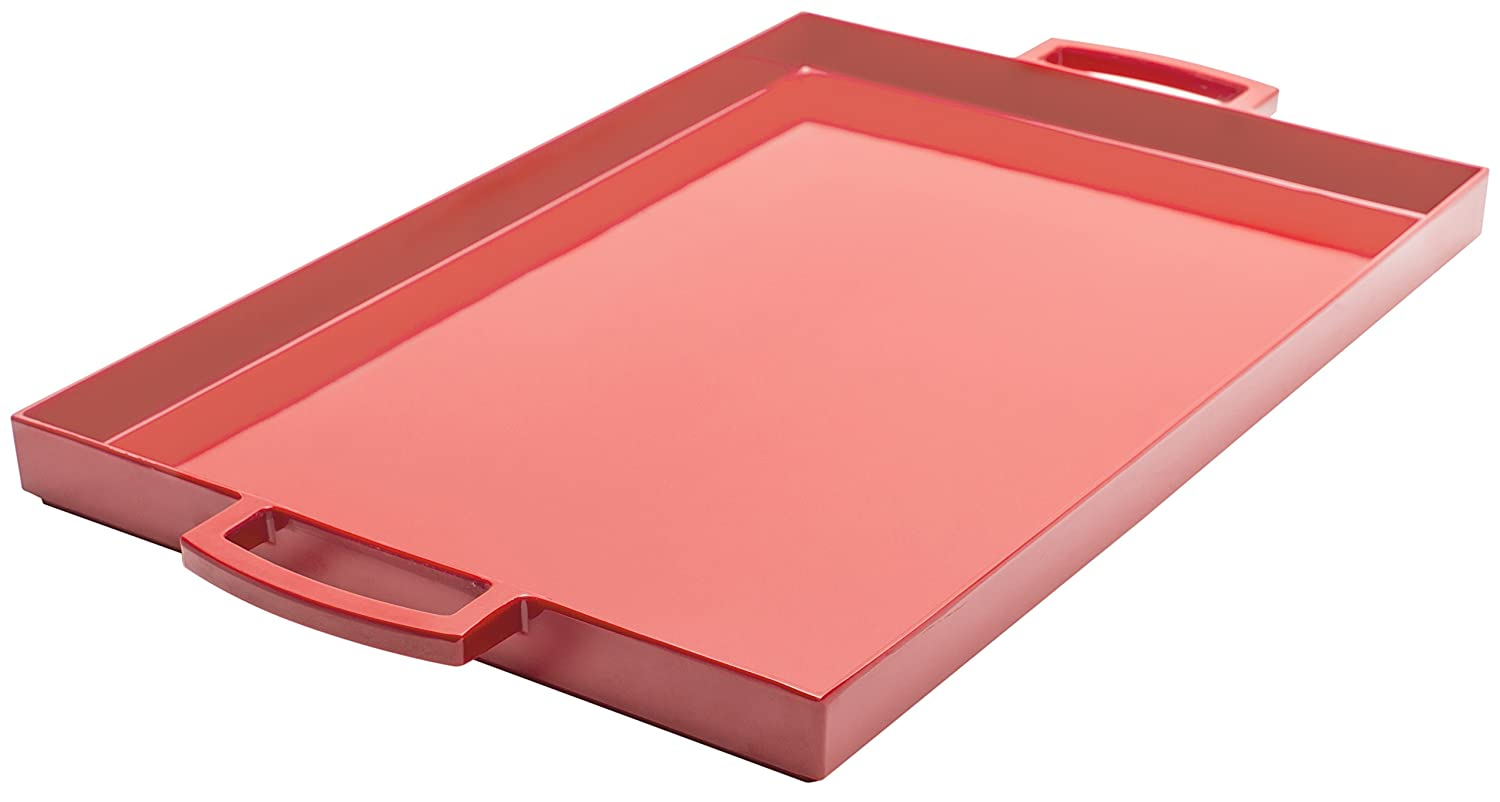 Zak Designs Pop Small 12-1/2-Ounce Square Tray (Red) 0078-0019