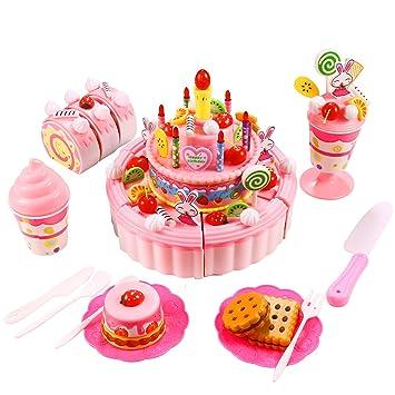 Smibie Pastel de Cumpleaños Juguete para Cortar Set de ...
