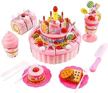 Smibie Pastel de Cumpleaños Juguete para Cortar Set de