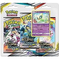 Triple Pack Pokémon, Copag, Calebi, Sol e Lua 12, Eclipse Cósmico, 19 Cartas