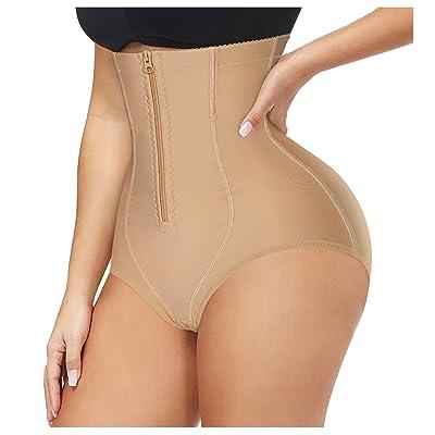 Lady High Waist Tummy Control Body Shaper Butt Lifter Thong Shapewear Bone Panty