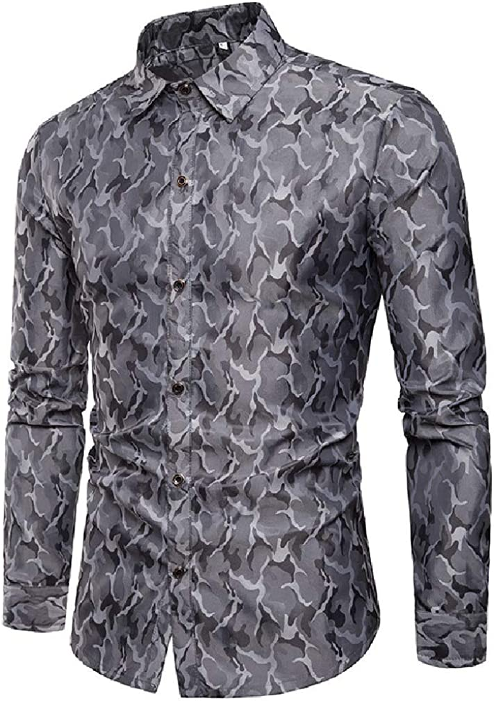 Coolred-Men Oversized Stylish Camouflage Color Bright Color Comfy Shirts