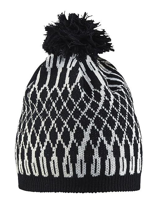 6e08e617cc4 Craft Sportswear Unisex Snowflake Wool Pom Top Lined Warm Winter Beanie Hat