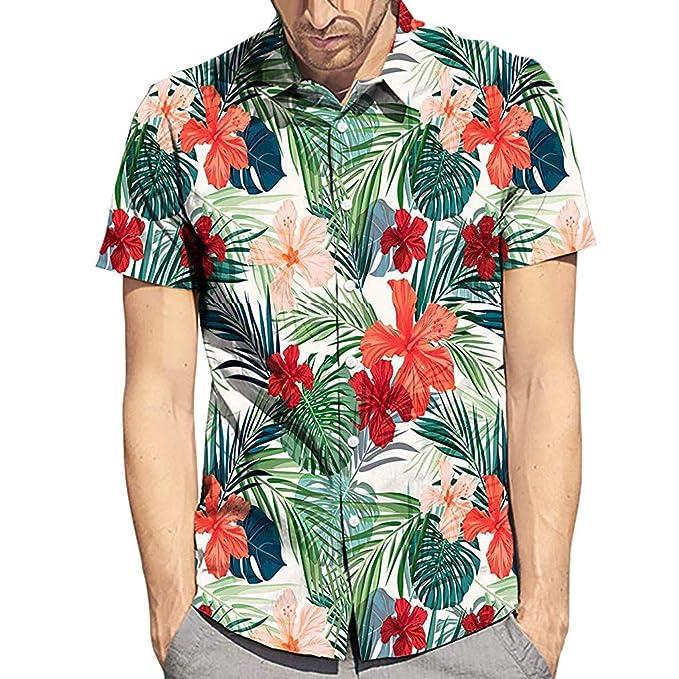 orden baratas la compra auténtico Oliviavan Camiseta de Manga Corta para Hombre, Verano Moda ...