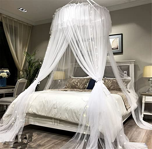 Amazon Com Lotus Karen Bed Canopy Elegant Lace Round Hoop