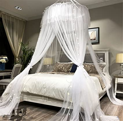Amazon.com: Lotus Karen Princess Bed Canopy Romantic Round Dome