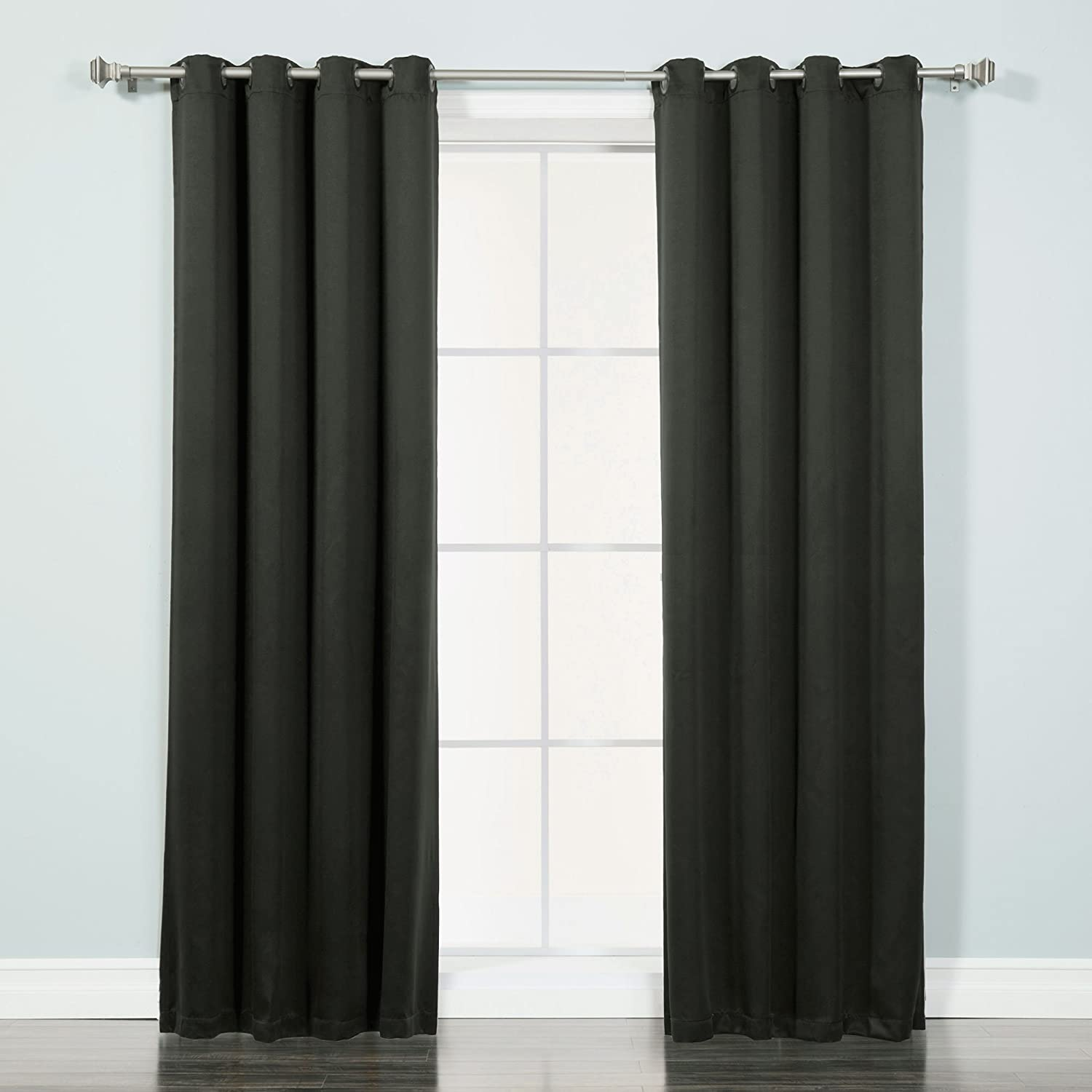 Best Home Fashion Thermal Insulated Blackout Curtains - Antique Bronze Grommet Top - Black - 52