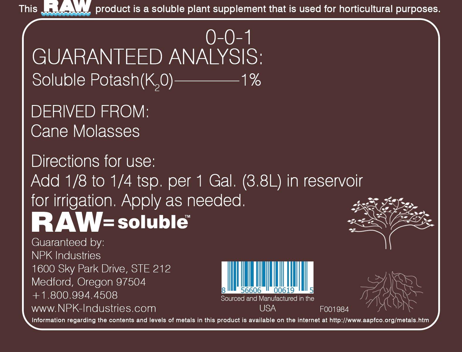 RAW Cane Molasses 25 lb