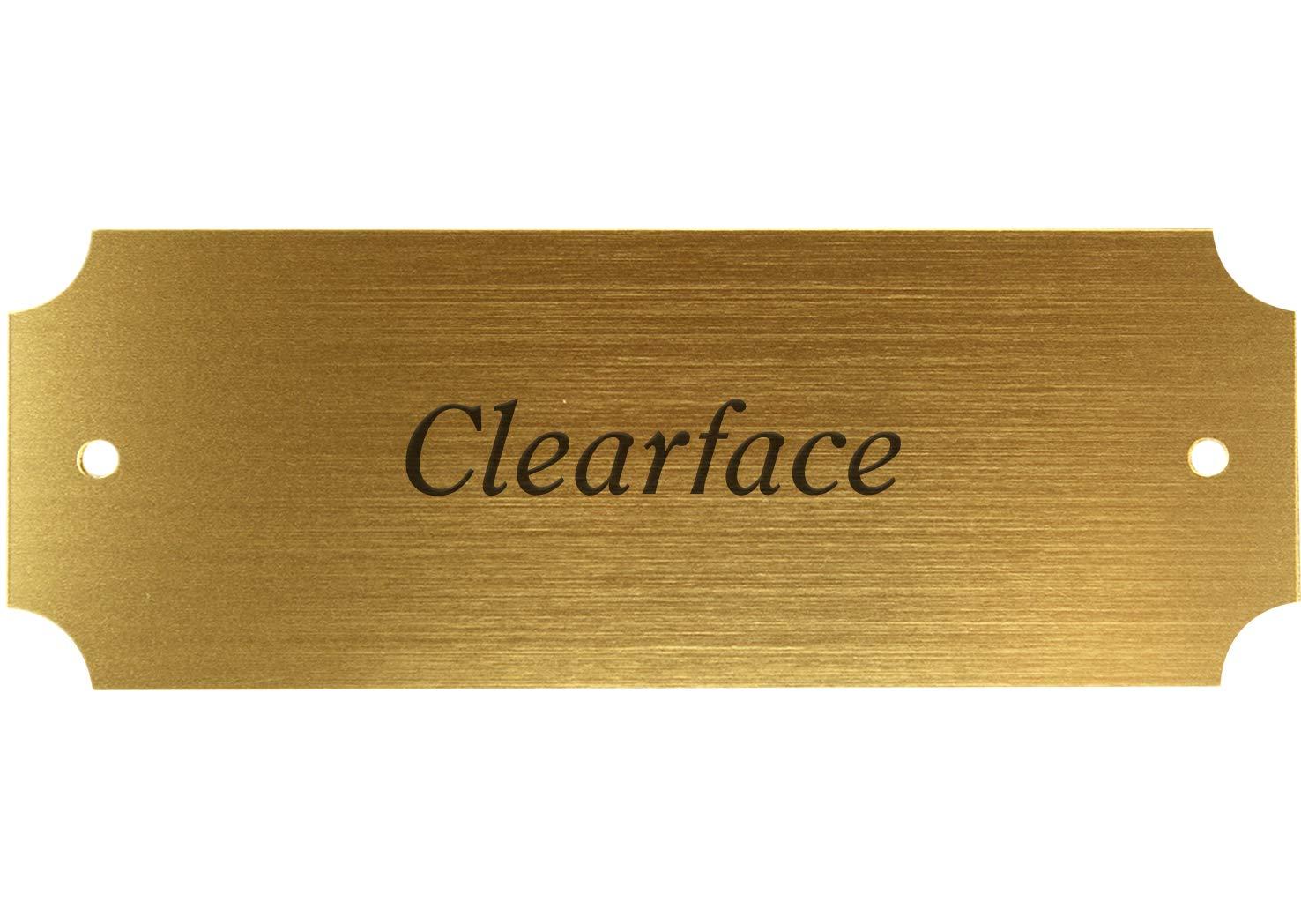 eckig 125 x 45 mm Namensschild Kunststoffschild gold-metallic Gravurschild T/ürschild mit individueller Gravur Klingelschild
