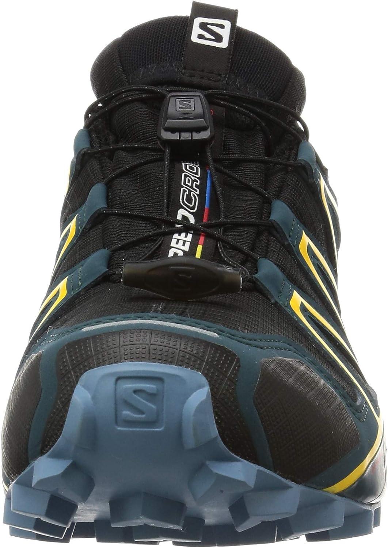 Pointure: EU 47 1//3 Black//Reflecting Pond//Spectra Yellow Couleur: Noir//Jaune Salomon Homme Chaussures de Trail Running SPEEDCROSS 4 GTX