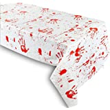 Grabo Halloween Decorations - Bloody Zombie Table Cover, Scary Tablecloth |102 ×51in| Halloween Party Supplies…
