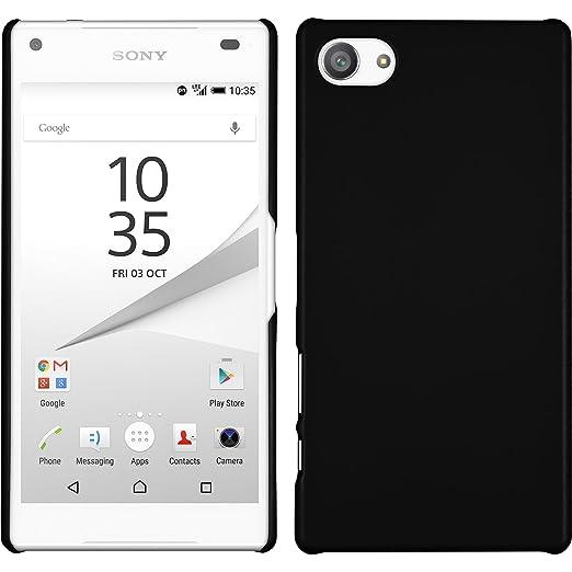 4 opinioni per Custodia Rigida per Sony Xperia Z5 Compact- gommata nero- Cover PhoneNatic +