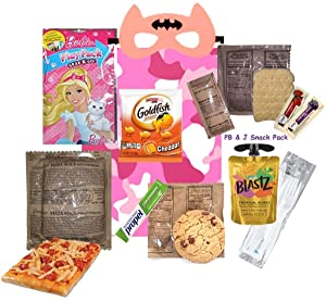 KIDS MRE (for a GIRL) Full Meal Several Entrée Options w/ Play Pack & more! (Cheese Pizza Slice)