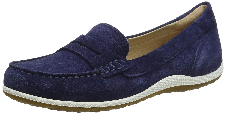 Medium bluee Geox Women's Vega 1 Suede Walking Penny Loafer