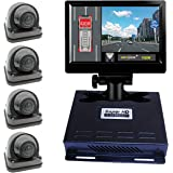 Weivision 1080P FHD 360 Degree Bird View Surround Panoramic View Car Vihicle DVR Camera System Kit for Fire Engine/Bus/School