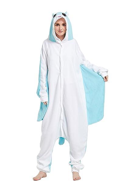Fandecie Animal Costume Animal Traje Pijamas Pijamas Jumpsuit Kigurumi Pteromyini Mujer Hombre Cosplay Adulto para Carnaval