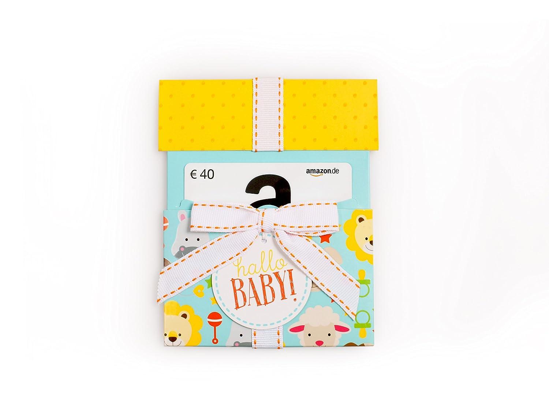 Amazon.de Geschenkkarte in Geschenkkuvert (Hallo Baby) - mit kostenloser Lieferung per Post Amazon EU S.à.r.l.