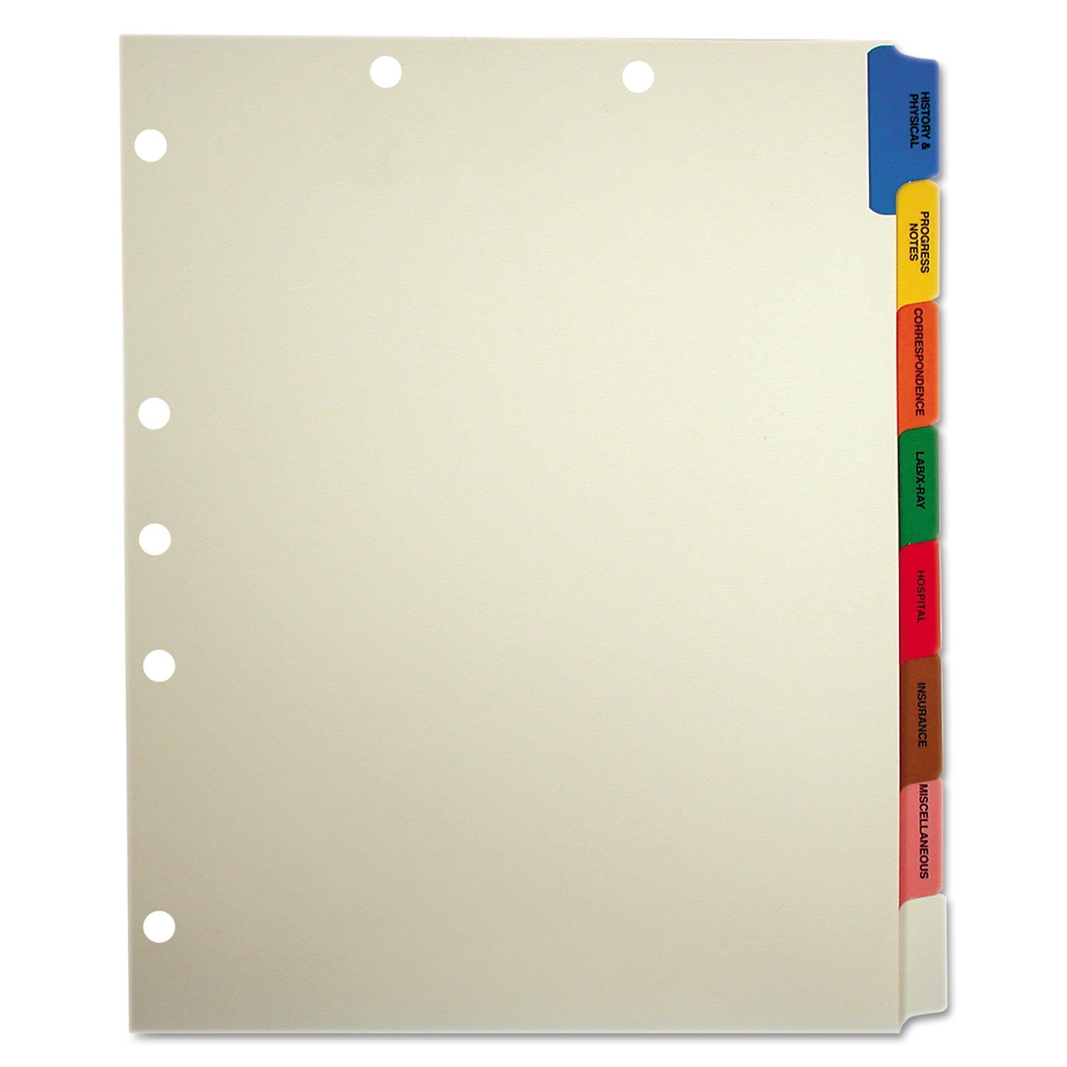 TAB54505 - Tabbies Medical Chart Divider Sets