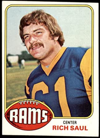 Amazon Com 1976 Topps 77 Rich Saul Los Angeles Rams Football Card Ex Rams Michigan St Collectibles Fine Art
