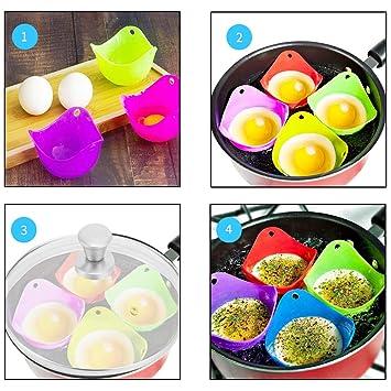 Amazon.com: Aorange - Juego de 4 huevos de huevo, huevos de ...