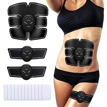 enkeeo elettrostimolatore muscolare  ENKEEO Elettrostimolatore Muscolare, EMS Addominali Trainer, Cintura ...
