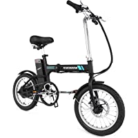 ANCHEER Adult Electric Bicycle, Mens Classic Black Style 26 Aluminum Alloy Electric Mountain Bike with 36V 8Ah Removable Lithium-Ion Battery