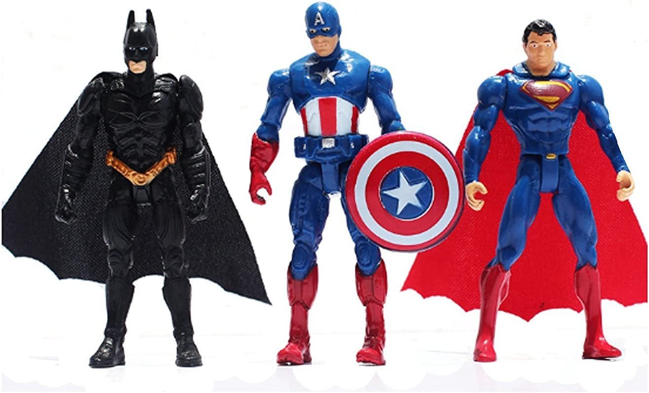 8Stk Captain America Batman Superman Thor Super Hero Mini Figure Blocks Toy Gift