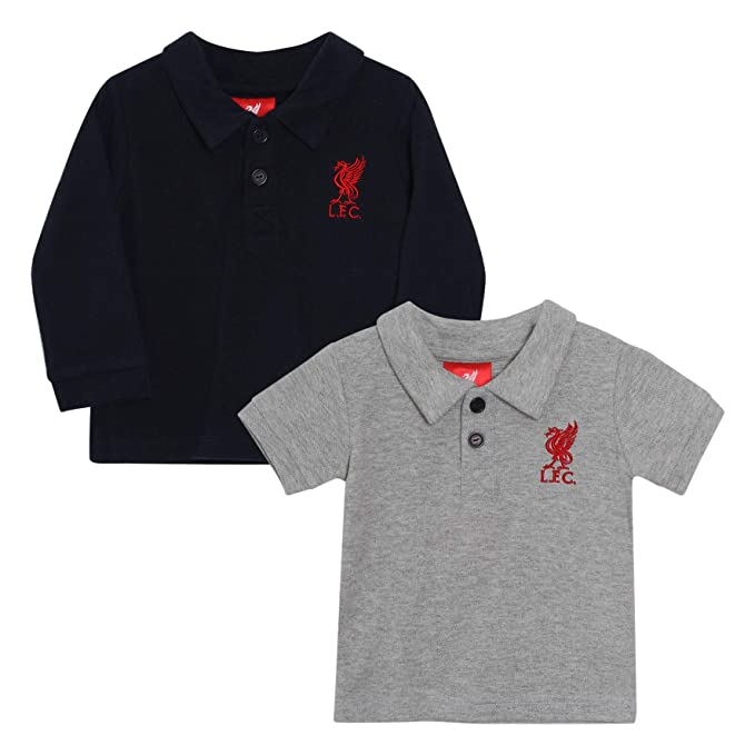 Liverpool FC Polo LFC Bebé Pack de 2 LFC Oficial: Amazon.es: Ropa ...