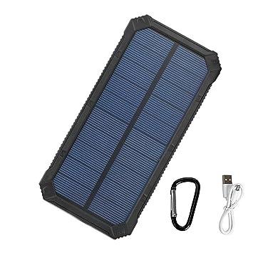 Tollcuudda Power bank Placa Solar - 10000mah Banco de Energía Cargador Solar para móviles, Smartphone, iphone, ipad, Con Doble Puerto USB y Luz LED ...