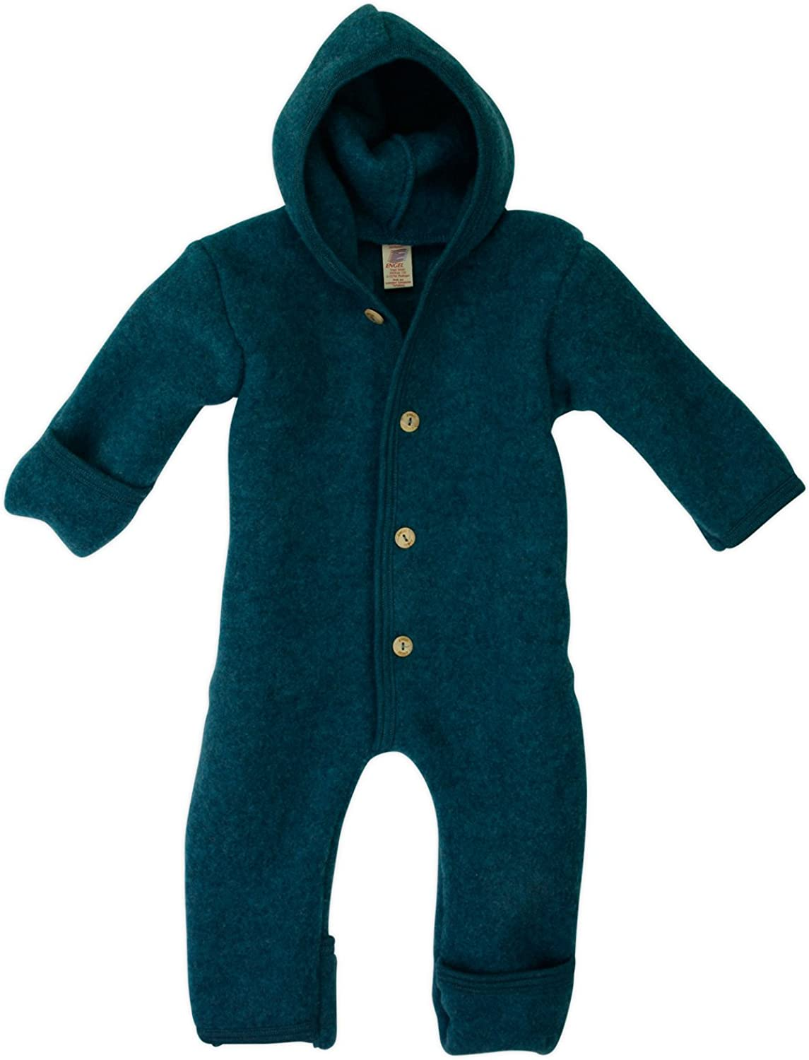 Baby Hooded Overall With Wooden Buttons Engel 100/% Organic Merino Wool