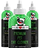 Cat & Dog Ear Cleaner Solution - Itch Relief for Dogs and Cats to Eliminate Head Shaking - Clear, No Mess Formula - Vet Formulated Natural Pet Ear Infection Treatment with Aloe Vera & Eucalyptus