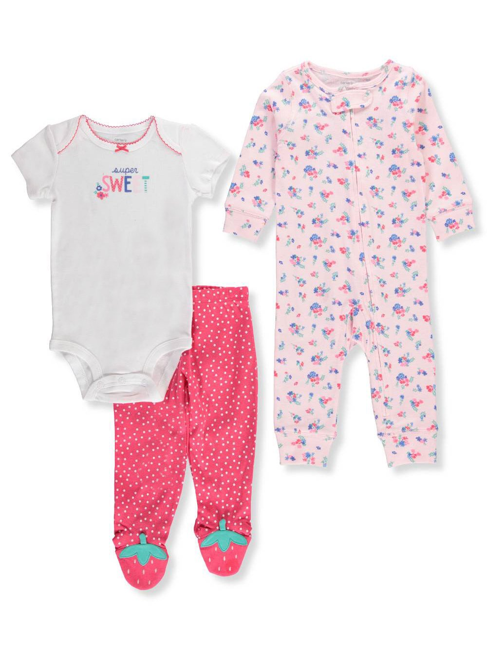 Carter's Baby Girls' 3-Piece Layette Set Carter' s