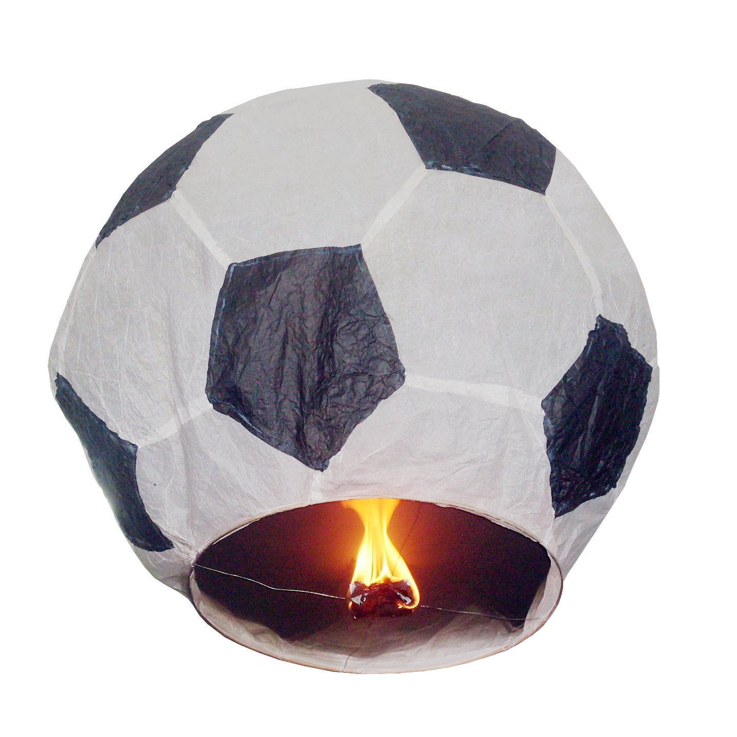 Farolillo volador con forma de balón de fútbol (Set de 5): Amazon ...