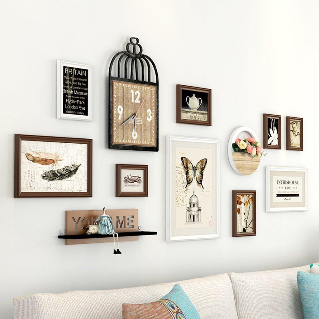 Der Photo Wall, Photo Frame Wall, American Small Fresh Photo Wall Combination Creative Decorative Photo Wall Living Room Bedroom Photo Wall (Color : #4)