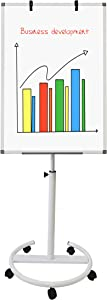 BEST BOARD Easel Whiteboard - Magnetic Portable Dry Erase Easel Board 40 x 28 Mobile Whiteboard Height Adjustable Flipchart Easel Stand White Board for Office or Teaching at Home & Classroom