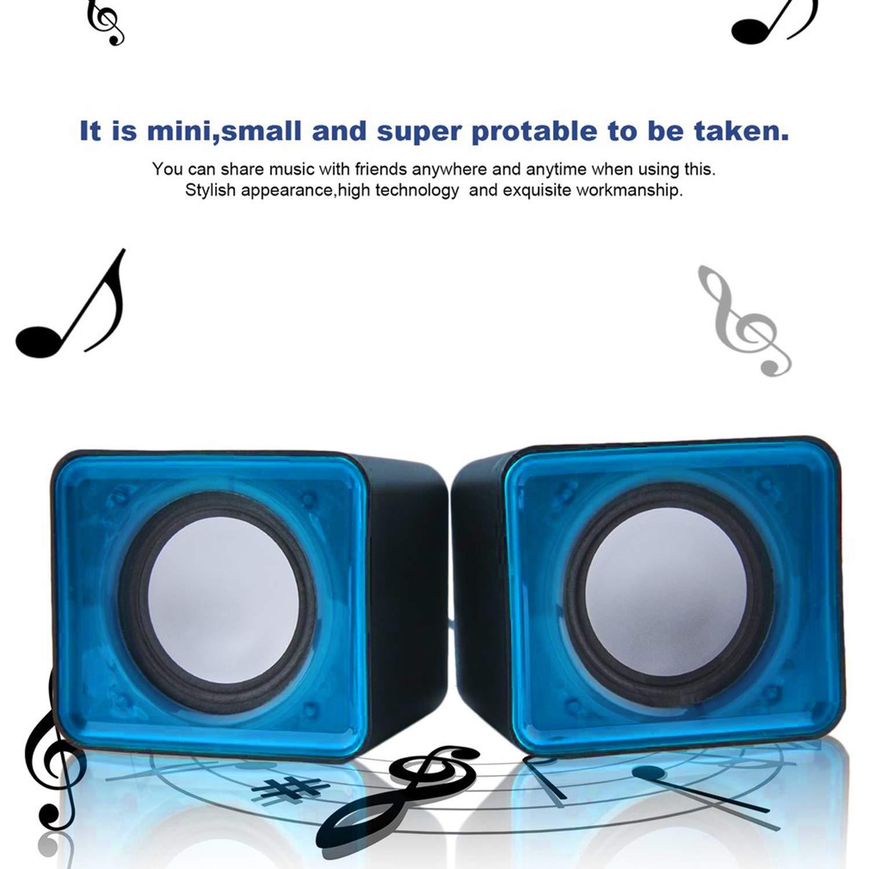 Portable USB 2.0 Multimedia Desktop Computer Notebook Mini Speaker Music Stereo Home Theater Party Speaker 3.5mm Jack