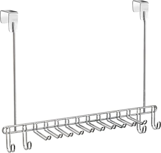 ClosetMaid Durable White Wire Wall Mount or Over the Door Tie and Belt Holder
