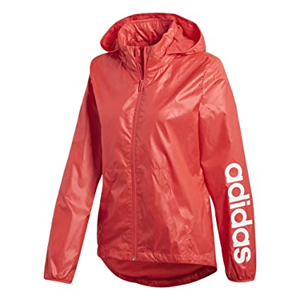 281051553a4c Amazon.com  adidas Women s Linear Windbreaker Jacket  Sports   Outdoors