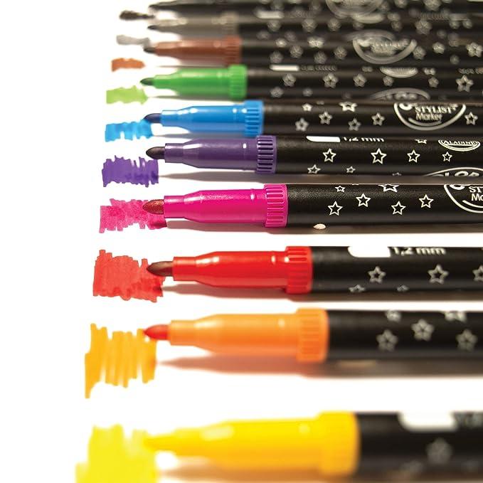 0.5-2 mm 11,5 mm Confezione da 60 /& 521500 Pennarelli Turbo Color Punta Fine Confezione da 96 pezzi Giotto 519200 Barattolo Pastelli Formato Gigante per Pastelli a Cera
