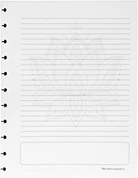 and More Discbound Filler Paper; Lotus Flower; Letter-Size fits Tul Circa fits 11-Disc Notebook Arc