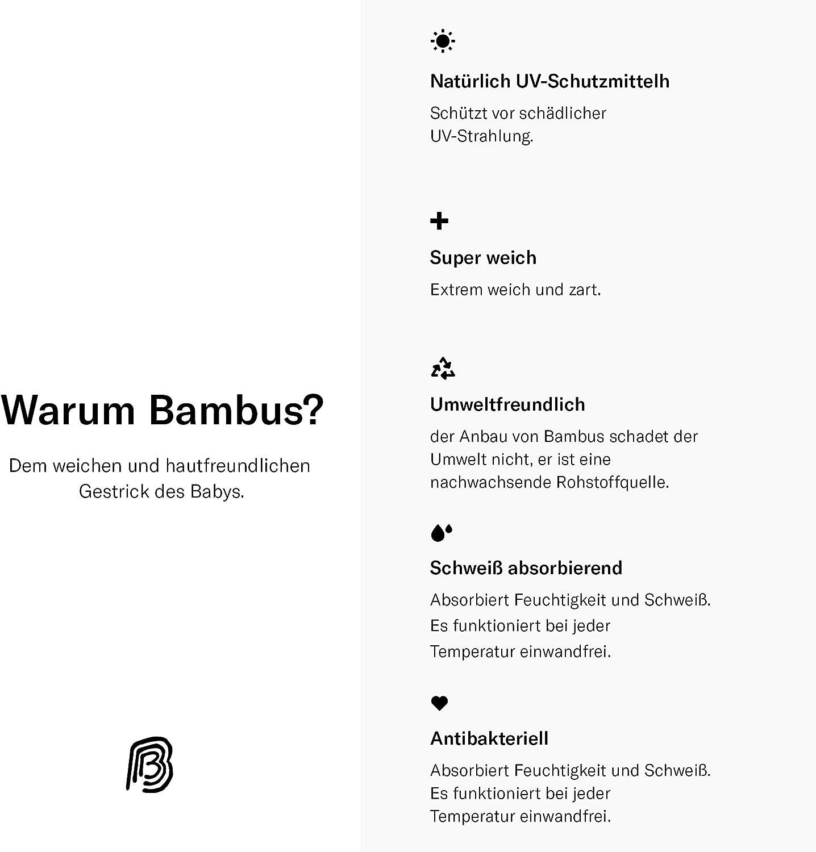 Booboobro Unisex Baby Langarm Wickelshirt im 2er Pack 100/% Bambus