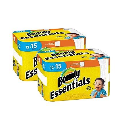 Amazoncom Bounty Essentials Full Sheet Paper Towels 24 Large