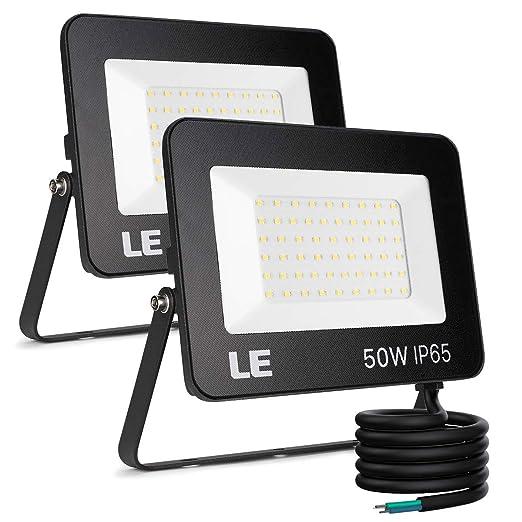 LE Foco LED 50W, 5000 lúmenes, IP65 resistente al agua, Foco LED ...