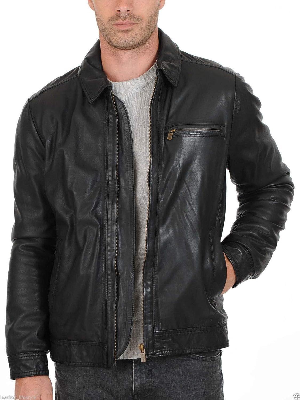 brandMe Mens Genuine Leather Pure Lambskin Biker Jacket MM182