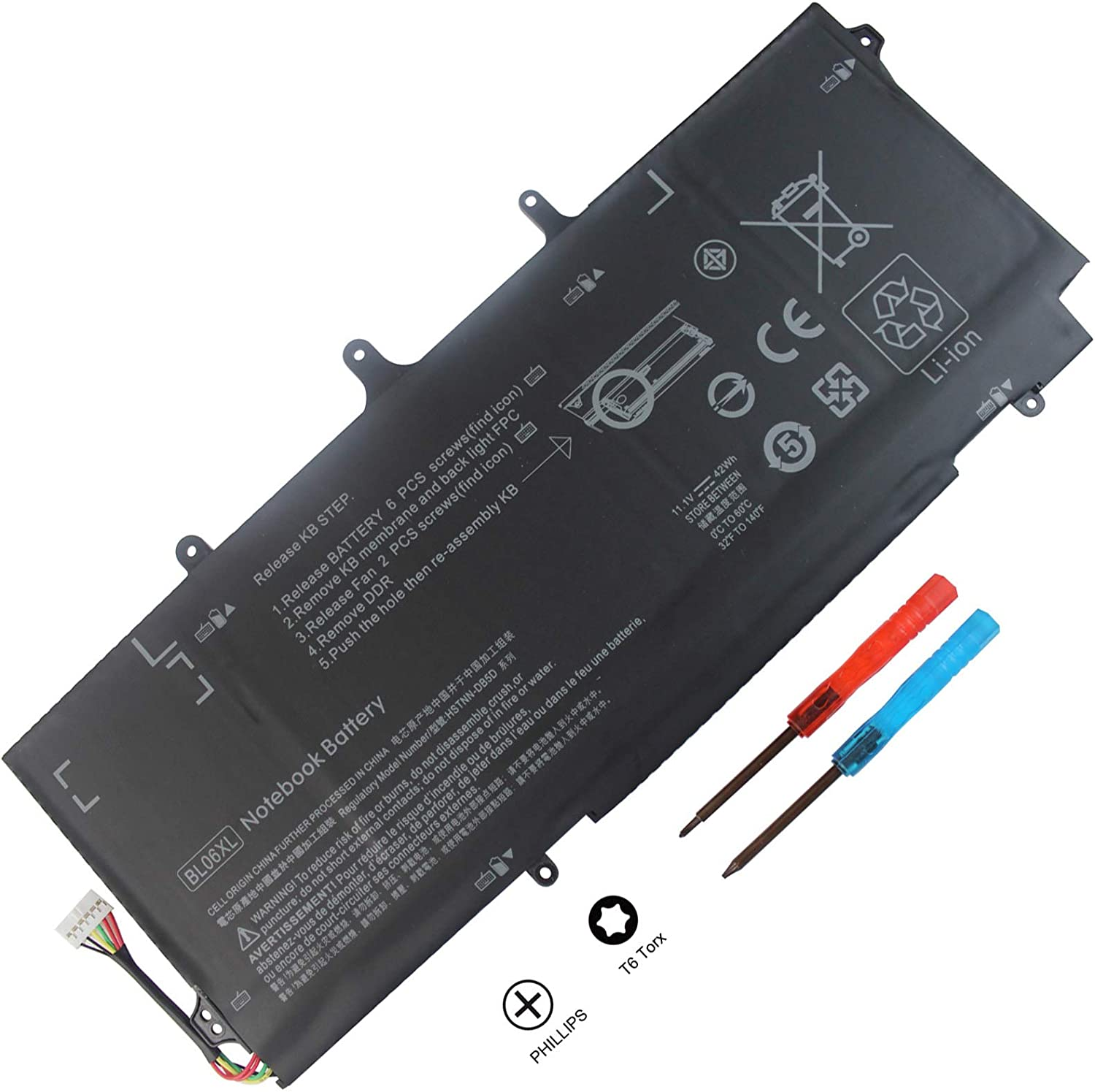 Shareway BL06XL Replacement Laptop Battery Compatible for HP EliteBook Folio 1040 G0 G1 G2 722236-171 HSTNN-DB5D HSTNN-W02C 722236-1C1 722236-2C1 L9S82PA