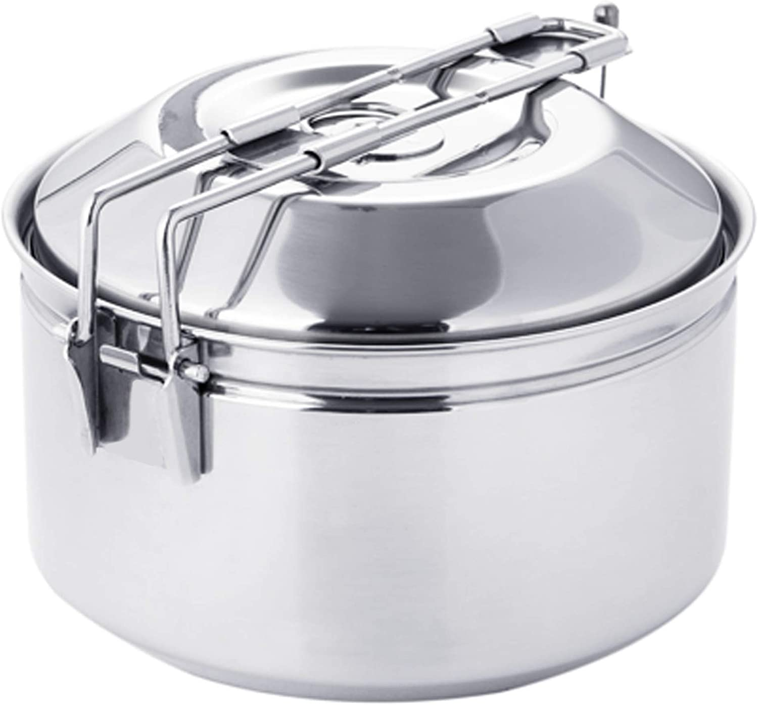 Fire-Maple Antarcti Stainless Steel Cook Pot w Locking Lid 1 Liter Pot Portable for Camping and Travel Works on Open Campfire and Stoves Premium Camp Cookware for Delicious Backcountry Meals