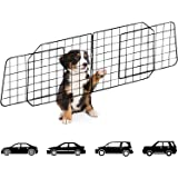 Dog Car Barriers,Pet Car Barrier Heavy Duty Wire Adjustable Dog Barrier with Front Seat Mesh Pet Barrier Net Organizer…