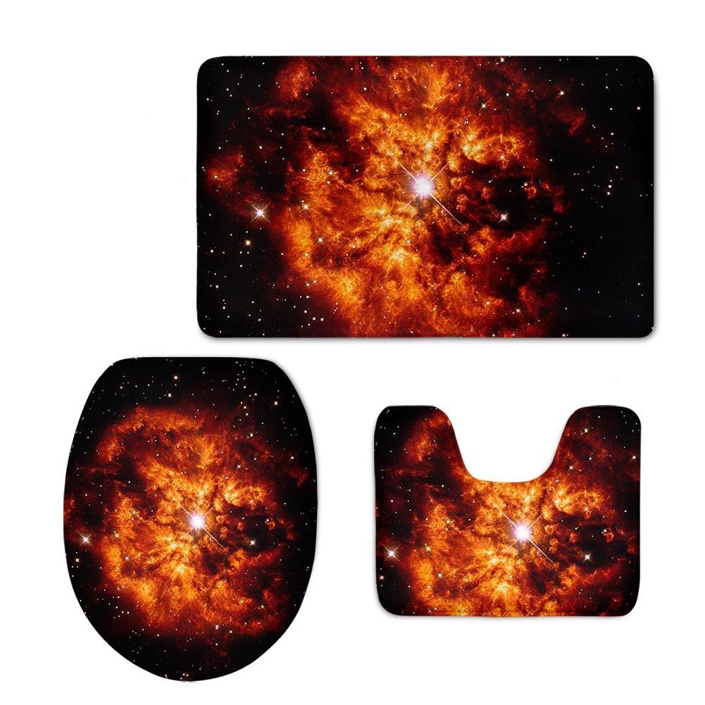 Toliet - ART Farbiger Planet 3pcs     Set Badezimmer-Matten-Sätze, Badematte + Podest-Matte + Toiletten-Sitz-Abdeckungsmatte, B B078V1J2M9 Duschmatten 9b394f