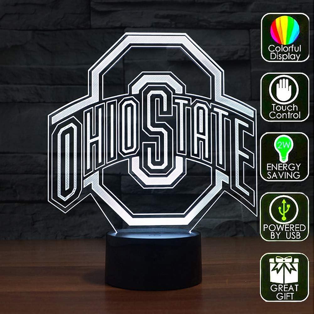 Lucky2Buy NCAA Ohio State University Team Logo Optical Decor Toy Lamp